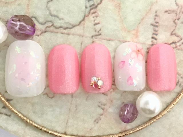 チーク×ピンク×桜×乱切りホロ