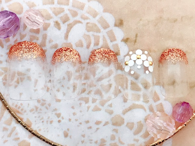 ラメグラ×ホロ花